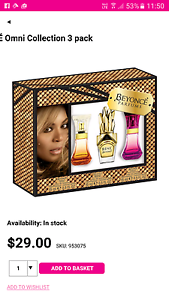 Beyoncé parfums gift pack unopened Harrington Park Camden Area Preview
