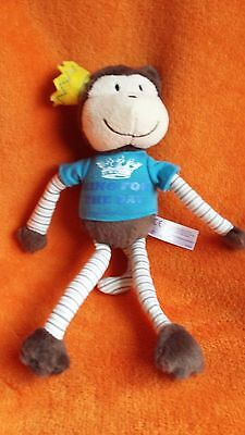 """Sainsburys Chimp Monkey Soft Toy King for the Day Fathers Day 12"""""""
