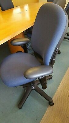 Excellent Steelcase Conference Chair Blue Fabric