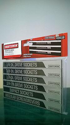 Craftsman Magnetic Labels - Tool Box Chest Organizer Toolbox Garage Storage, New