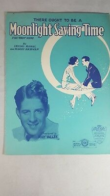 Moonlight Saving Time, Rudy Vallee photo, sheet music, (Rudy Vallee Sheet Music)
