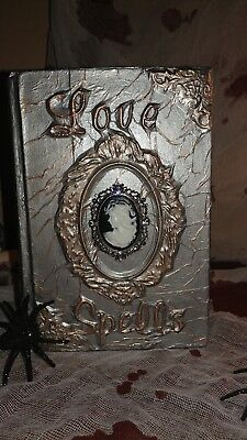 Halloween Spell Book/Victorian Style/ Love Spells/Upcycled Book/ Halloween Decor