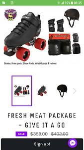Riedell Skates Fresh Meat Package Orange Orange Area Preview