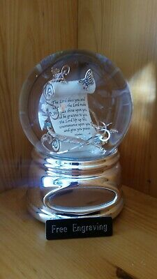 FREE ENGRAVING (PERSONALIZED) Inspirational Water (Snow) Globe Amazing Grace ](Personalized Snow Globes)