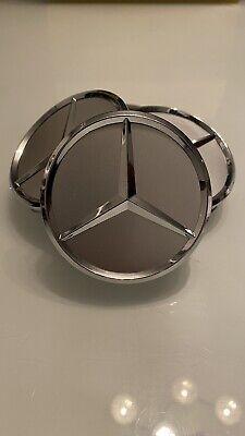 4x Nabendeckel silber für Mercedes Benz Radkappe Emblem Felgenabdeckung online kaufen