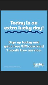 Free month free SIM card from lucky