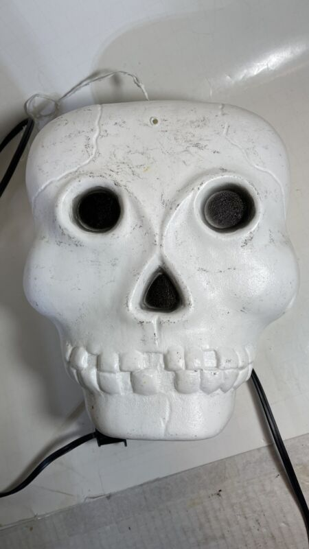Vintage Skeleton Head, Skull Halloween Blow Mold Light