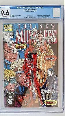 New Mutants #98 CGC 9.6 NM+  1st Appearance Deadpool