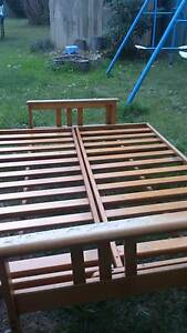 Free Futon Wooden Bed with Mattress West Ryde Ryde Area Preview