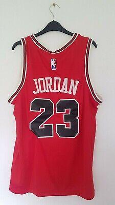 NBA MICHAEL JORDAN 23 CHICAGO BULLS RED JERSEY LAST DANCE NIKE SWINGMAN 48 M/L