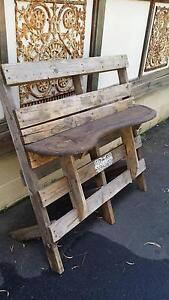 Recycled, pallet, bench, display, shelf, unusual. East Kurrajong Hawkesbury Area Preview