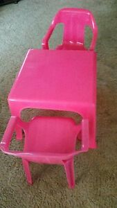 Little pink table and 2 chairs New Lambton Newcastle Area Preview