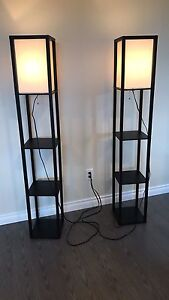 2 Lamps with shelves