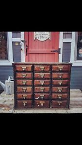 Antique 18 drawer apothecary cabinet