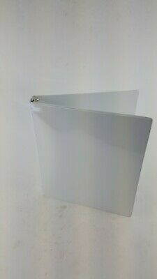 1 3 Ring Binder White Home School Office 2 Pocket Clear Overlay