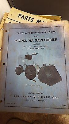 Payloader Model Ha Parts Instruction Manual