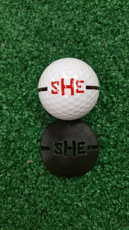 Personalized Golf Ball Stencil - Custom Initials between Alignment lines.