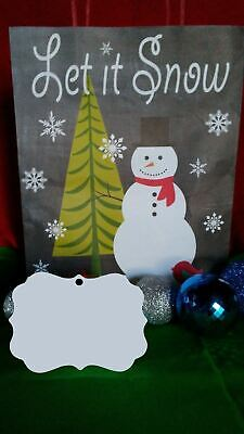 Christmas Benelux 2 Ornament Two Sided White Aluminum Sublimation Blanks 0.85ea