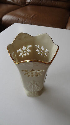 "LENOX  Vase 7"" Langtry Pattern Gold Trim Made In USA"