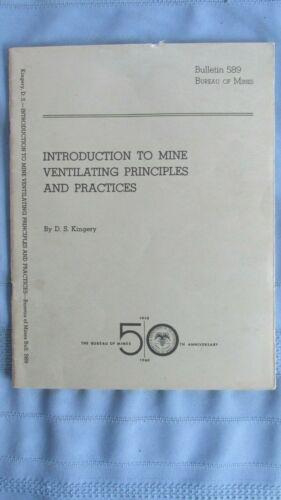 1960 Mine Ventilating Principals & Practices-Bureau Of Mines 50th Anniversary