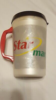 34oz Aladdin Insulated Coffee Cups Mugs Plastic Vintage / LID (SM)(Not Perfect)