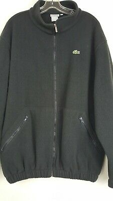 Vintage Lacoste Sport Mens Sz 6/XL Gray Fleece Long Sleeve Zip Up Logo Jacket