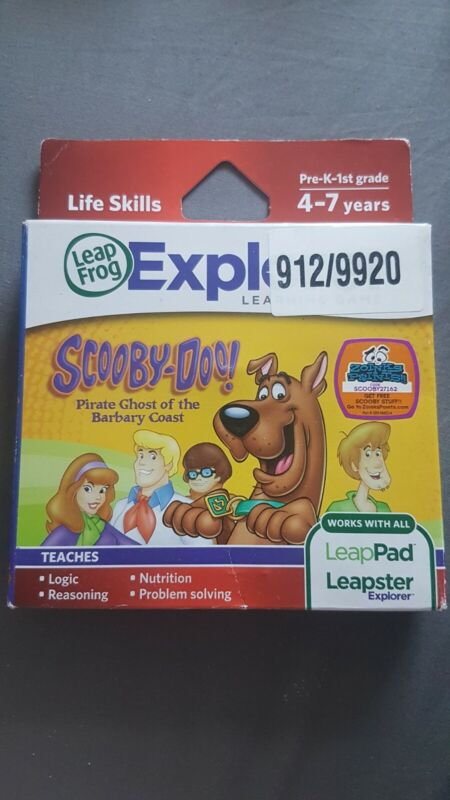 SCOOBY+DOO+Leap+Frog+Leap+Pad+Explorer+Green+Cartridge+Game+Age+4-7+Lifr+Skills+