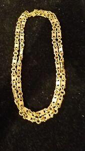 Vintage Authentic Celine Necklace Gold Color Chain Approx 38