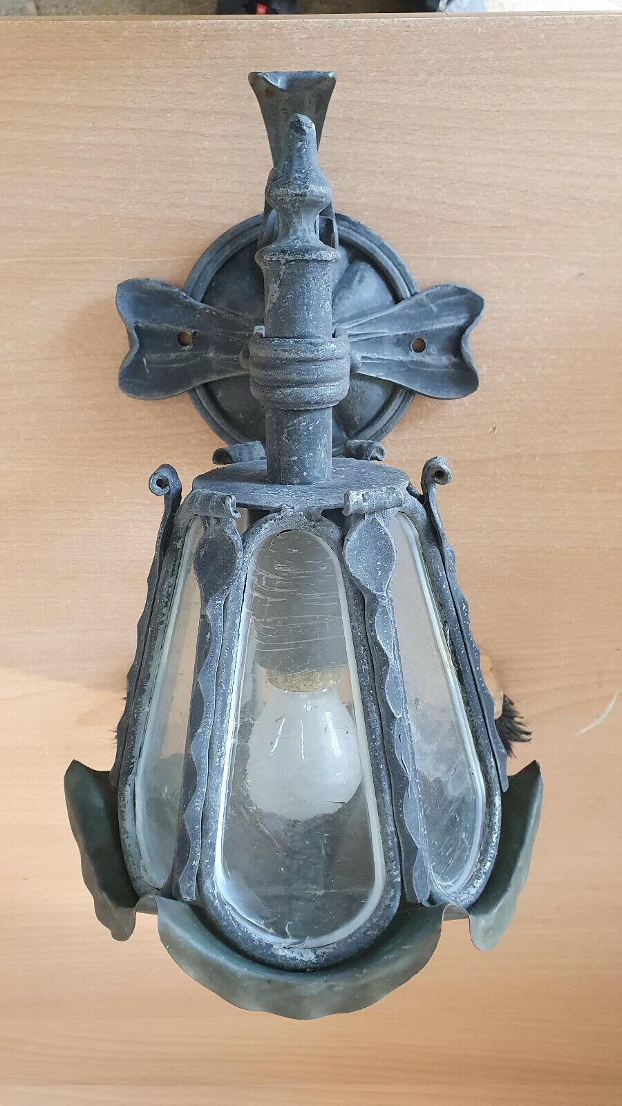 Handgeschmiedete Außenlampe Wandleuchter Kupferdach