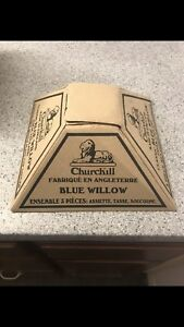 Churchill blue willow 3 piece set
