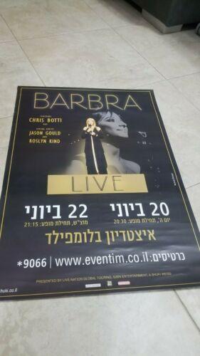 Barbara Streisand Poster.Concert in Israel