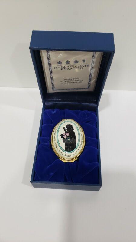 Halcyon Days Enamel Box, Limited Edition Queen Elizabeth 99th Birthday w/ Case