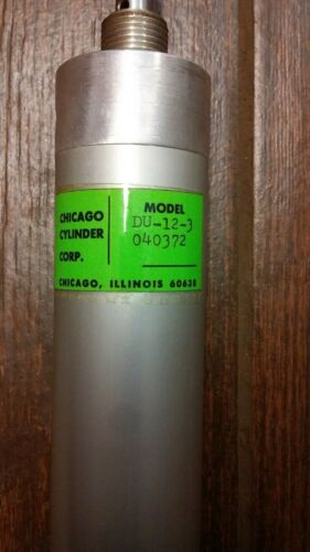 "Chicago Cylinder Model DU-12-3 040372 1 1/2 bore x 3"" stroke"