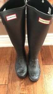 Brand new HUNTER boots - tall platform special colour