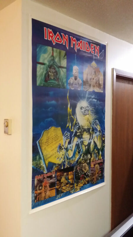Iron Maiden Poster 1985 Licensed Live Powerslave Piece Number Killers Rare!