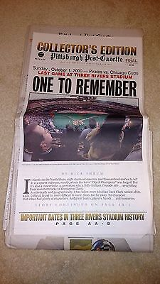 Pittsburgh Post Gazette Collectors Edition Last Game At Three Rivers Stadium