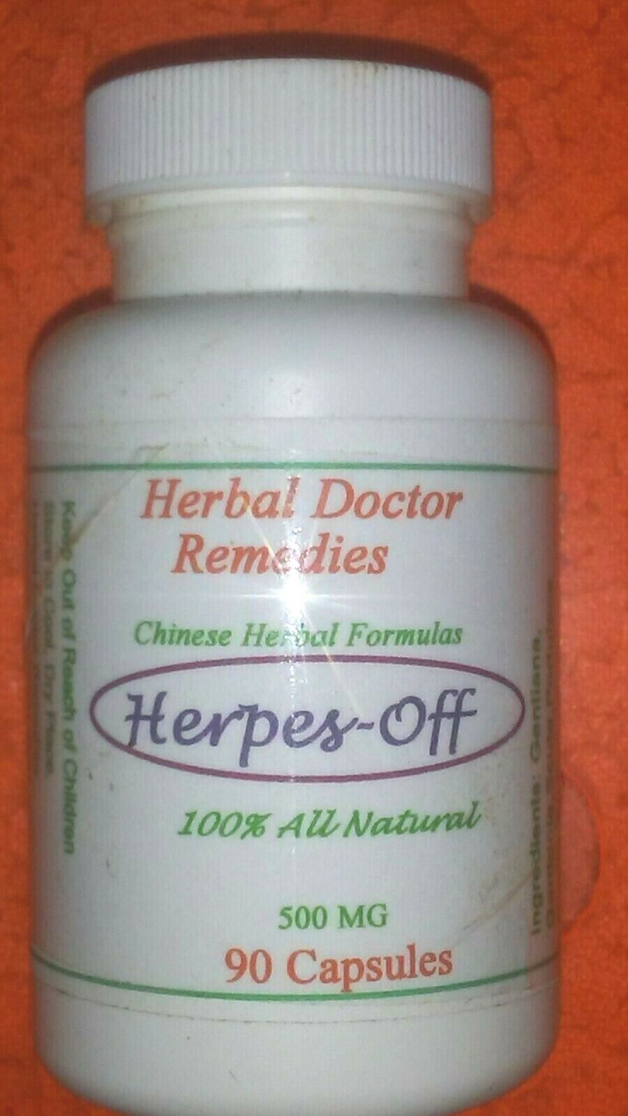 Herbdoc TCM Herpes off 90 Caps HSV1 HSV2 Nerve Pain Itching Chicken Pox Flu Sing