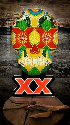 Dos Equis Beer Day Of The Dead Dia De Los Muertos Sugar Skull Led Neon Sign