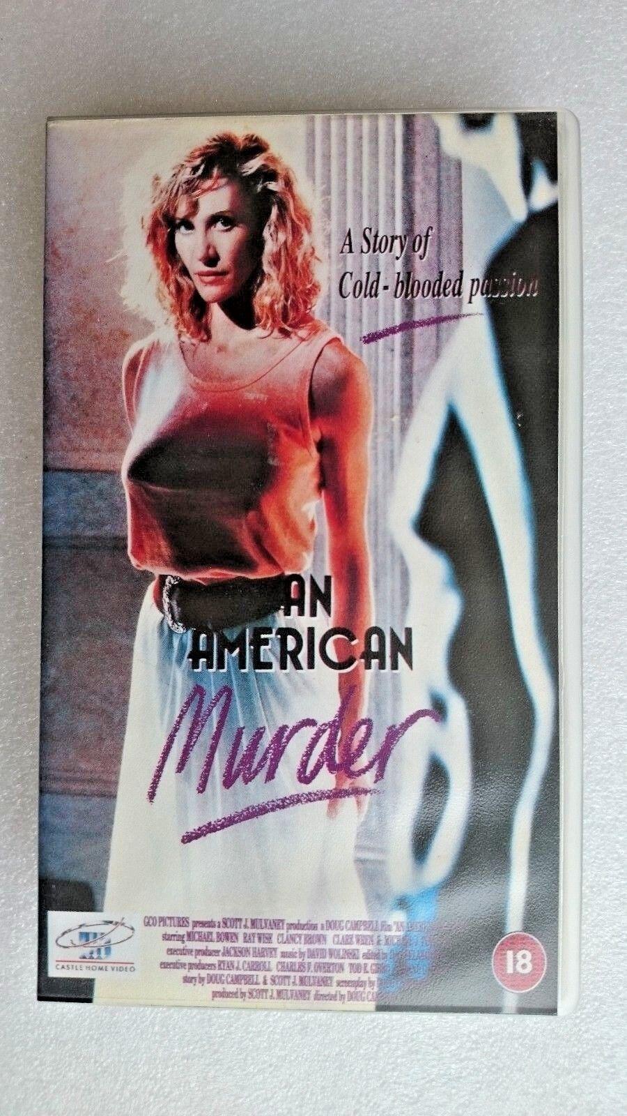 An American Murder (VHS, 1988)