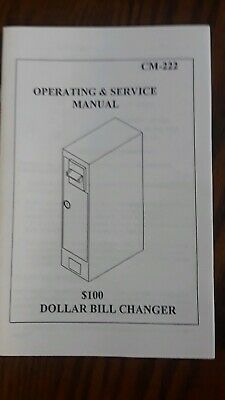 Cm-222 Dollar Bill Changer Manual
