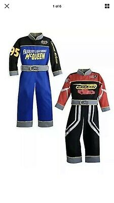 Lightning Mcqueen Costume For Boys (Boys Kids Disney Store Reversible Lightning McQueen Cats Halloween Costume)