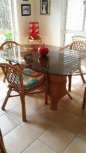 Glass Top dining setting for 4 Sippy Downs Maroochydore Area Preview
