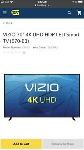 Vizio e70-e3 new in box