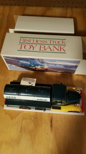 First Hess Truck and First Hess Truck Toy Bank With Original Box and inserts