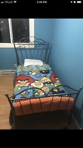 Single cast iron bed