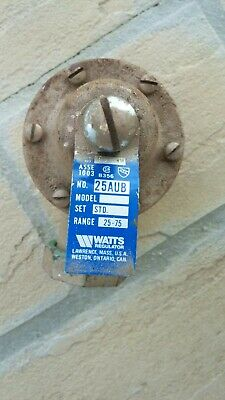 Watts Regulator Pressure Reducing 1 Valve 1 No 25aub Set Std Range 25-75