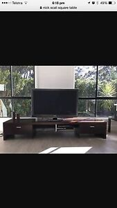 Nick Scali solid wood entertainment unit 2.4 m long designer furniture Coomera Gold Coast North Preview