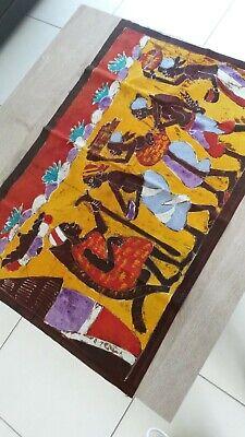 Beautiful Batik Fabric Ethnic Africa WEST Cote D'Ivoire Ofrandes Choose Chief