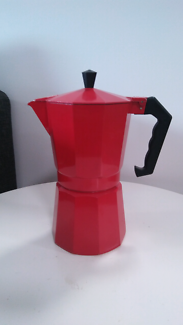 Red coffee percolator as new