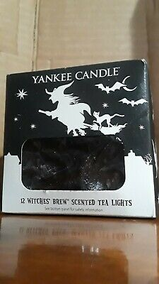 Yankee Candle - Limited Edition Witches Brew Box of 12 Scented Tea Lights RARE